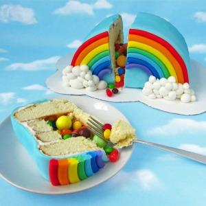 Rainbow Pinata Cake Square Image FINAL